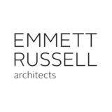 """Emmett Russell Architects"" logo with a white background at a resolution of 300 by 300 pixels"