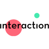 """Interaction"" logo with a white background at a resolution of 300 by 300 pixels"