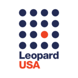 """Leopard USA"" logo with a white background at a resolution of 300 by 300 pixels"