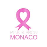 """Pink Ribbon Monaco"" logo with a white background at a resolution of 300 by 300 pixels"