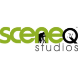 """SceneQ Studios"" logo with a white background at a resolution of 300 by 300 pixels"