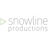 """Snowline Productions"" logo with a white background at a resolution of 300 by 300 pixels"