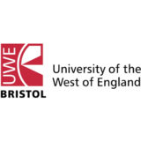 """University of the West of England"" ""UWE"" logo with a white background at a resolution of 300 by 300 pixels"