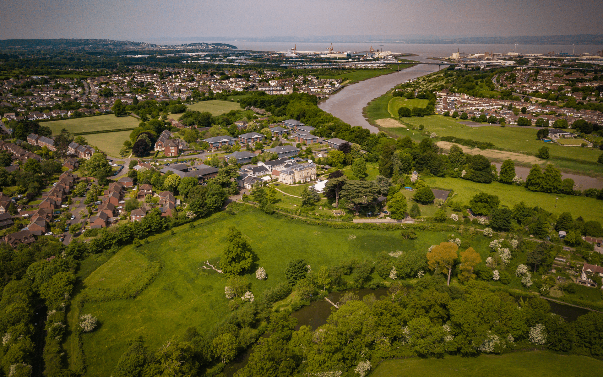 """Mavic Pro"" aerial drone photo of an estate in Ham Green, Bristol"