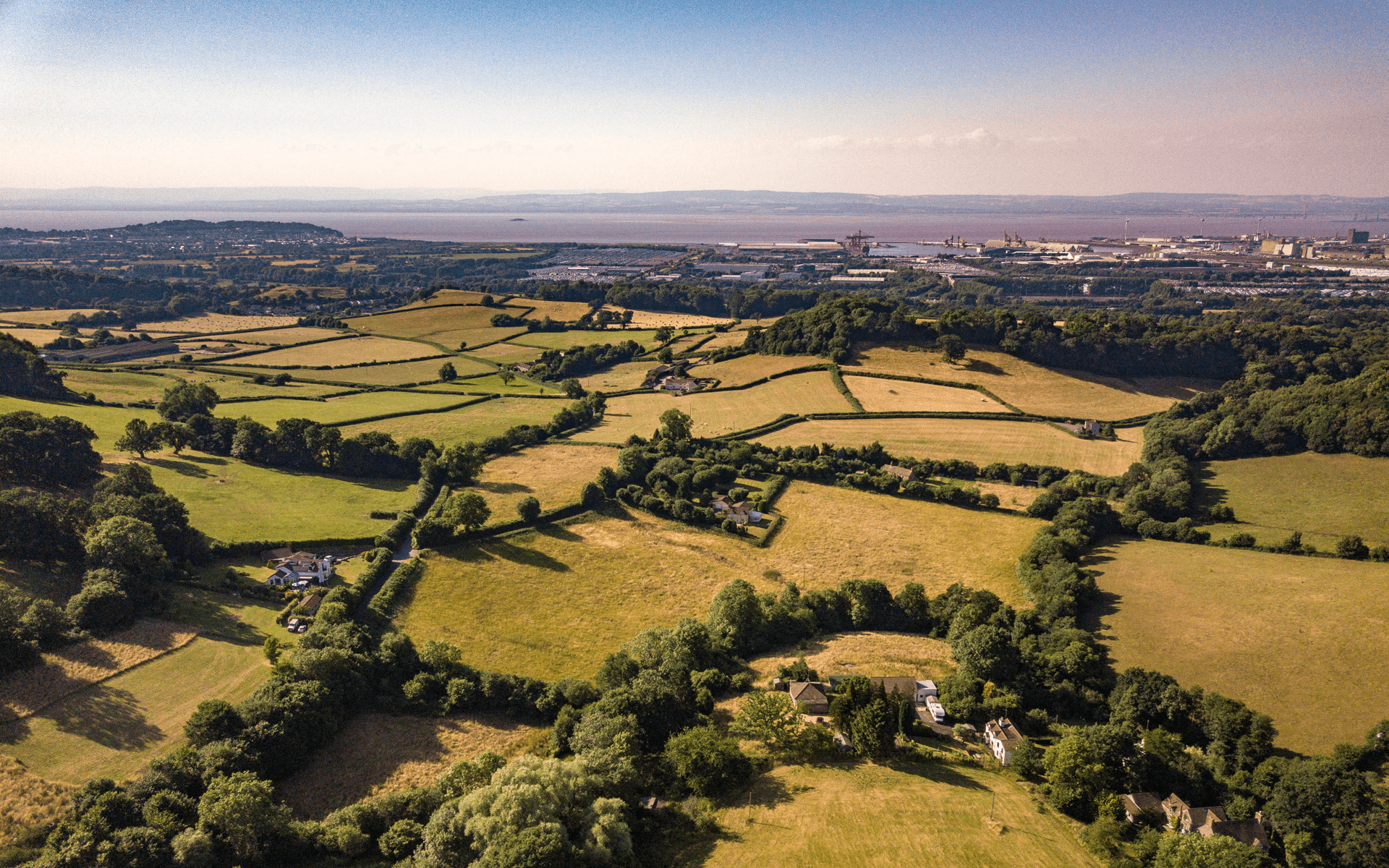 """Mavic Pro"" aerial drone photo of house in Lower Failand, Bristol for estate agency"