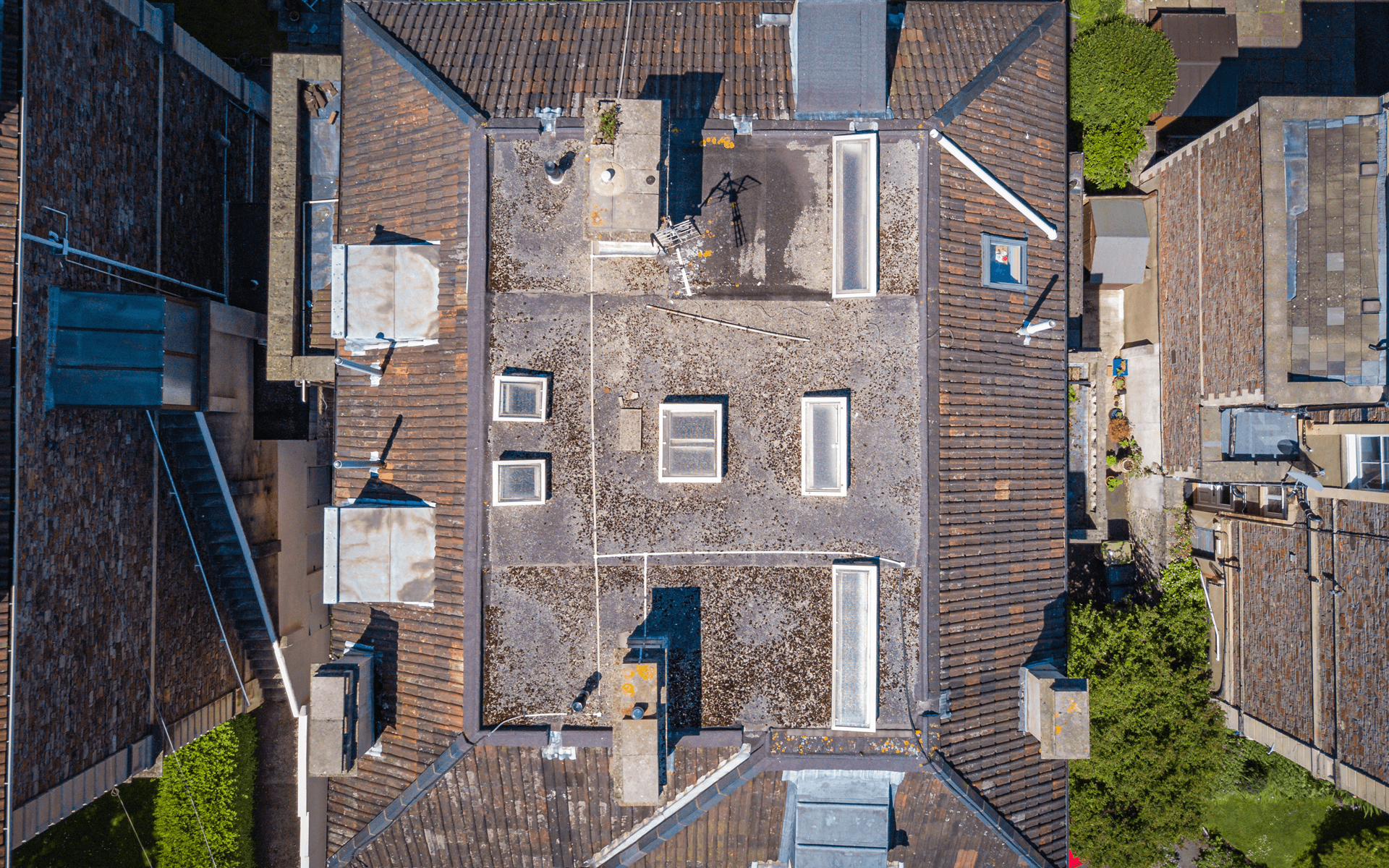 """Mavic Pro"" aerial drone photo for a roof survey at ""The West Of England Friends Housing Society"""