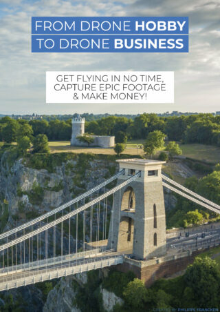 "The cover of a book called ""From Drone Hobby to Drone Business"""