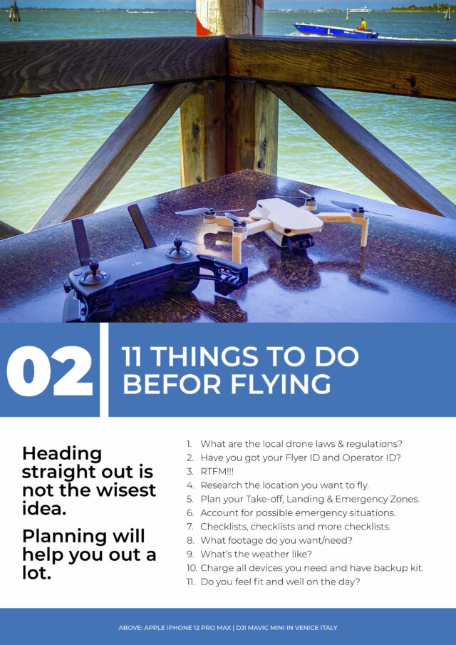 """The contents page of chapter 2 of a book called """"From Drone Hobby to Drone Business"""""""