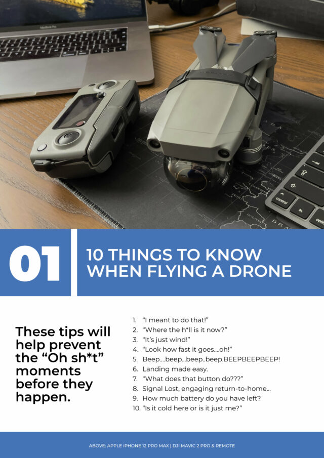 """The contents page of chapter 1 of a book called """"From Drone Hobby to Drone Business"""""""