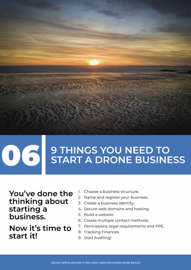 """The contents page of chapter 6 of a book called """"From Drone Hobby to Drone Business"""""""